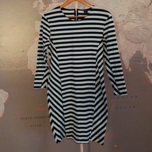 French Connection Stripped Dress Stretch Size 12